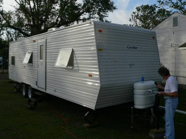 FEMA trailer that was my home for 5 days